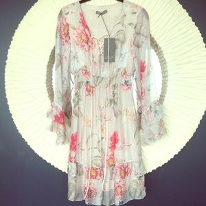 Dresses & Skirts - NWT pretty silk floral dress from Italy